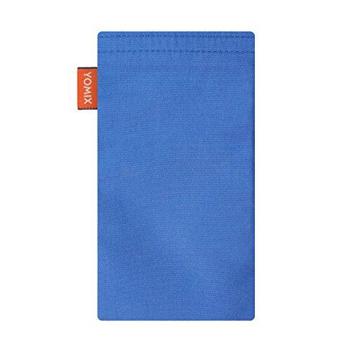 YOMIX Handytasche | Tasche | Hülle MALIN mit Strahlenschutz für Apple iPhone 6 Plus / 6s Plus / 7 Plus aus Jeansstoff mit genialer Display-Reinigungsfunktion durch Microfaserinnenfutter VIIVI blau