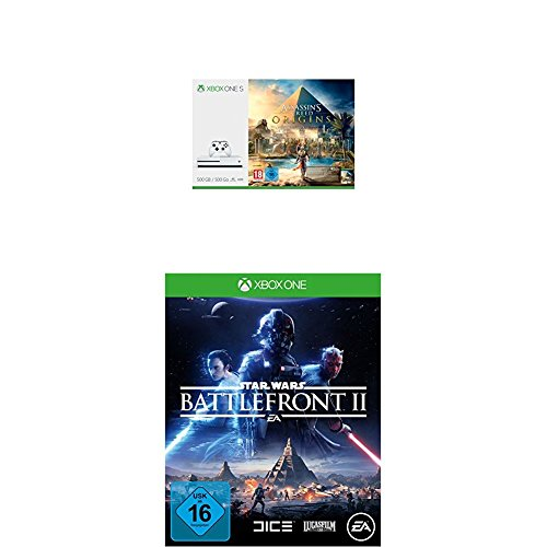 Xbox One S 500GB Konsole - Assassin's Creed Origins Bundle + Star Wars Battlefront II (Battlefront Star Wars Xbox 360)