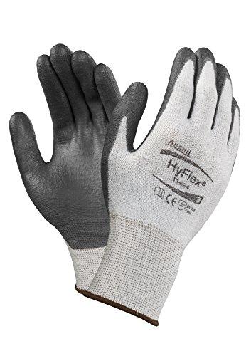 Ansell HyFlex 11-624 Schnittschutz-Handschuhe, Mechanikschutz, Schwarz, Größe 7 (12 Paar pro Beutel)