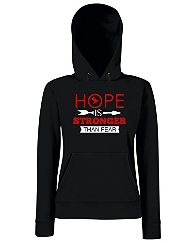 T-Shirtshock - Sweats a capuche Femme OLDENG00525 hope is stronger than fear Noir