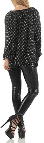 Malito Damen Bluse in Vielen Farben und Formen | Oberteile mit Verschiedenen Mustern �?Shirts 7213 Muster 4