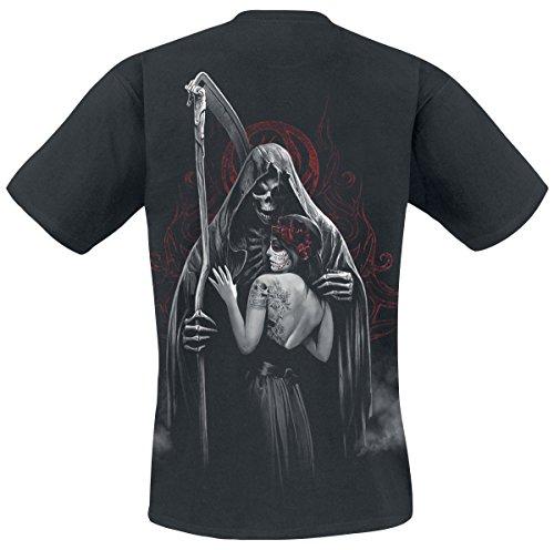 Spiral Dead Kiss T-Shirt Schwarz Schwarz