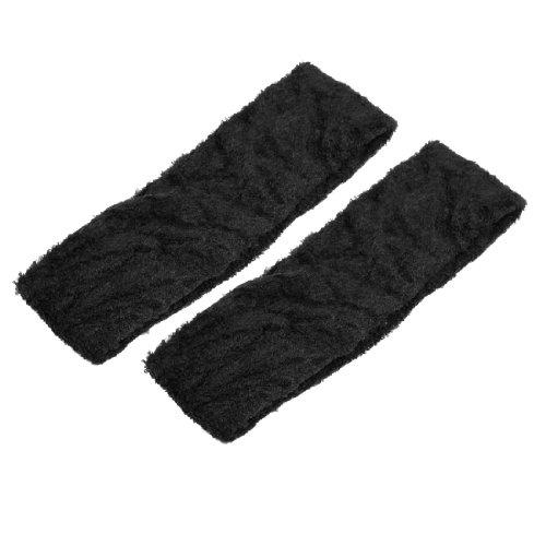 sourcingmap® Baignade Face Lavage Élastique Écharpe Serre-tête Headband Noir 2 Pcs