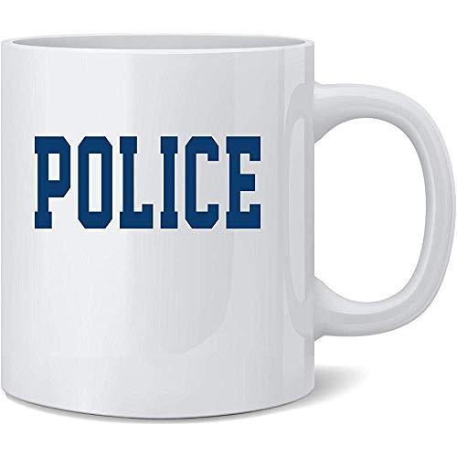 Polizei-Ersthelfer-Offizier-Spindel-Kostüm-Keramik-Kaffeetasse-Kaffeetasse-Tee-Schalen-Spaß-Neuheits-Geschenk 12 Unze -