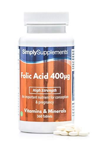 Ácido Fólico (Vitamina B9) 400mcg - ¡Bote para 1 año! - Apto para