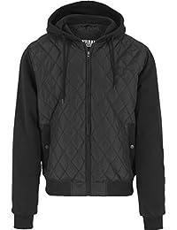 Urban Classics Herren Sweatjacke mit Kapuze Hooded Diamond Quilt Jacket, Streetwear Steppjacke für Männer