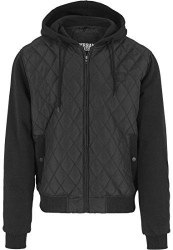 Urban Classics - Jacke Hooded Diamond Quilt Jacket, Giacca Uomo, Nero (Schwarz), XX-Large (Taglia Produttore: XX-Large)