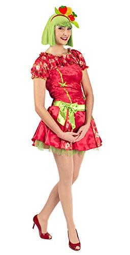 Kostüm Erdbeer Süße - Süße Erdbeere Kostüm für Damen - Gr. 40 42