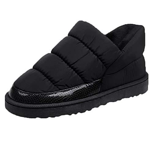 LianMengMVP Femmes Bottes de Neige de Loisirs Pain Chaussures Plates Hiver Imperméable Garder au Chaud Bottes Nues