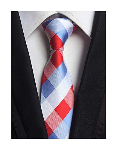 Kihatwin Herren Krawatten-Muster, kariert, gestreift, 8,4 cm - mehrfarbig - Einheitsgröße