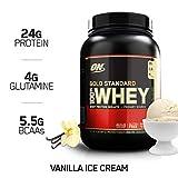 Optimum Nutrition ON Gold Standard 100% Whey Proteína en Polvo Suplementos Deportivos con Glutamina y Aminoacidos Micronizados Incluyendo BCAA, Helado de Vainilla, 29 Porciones, 900 gr