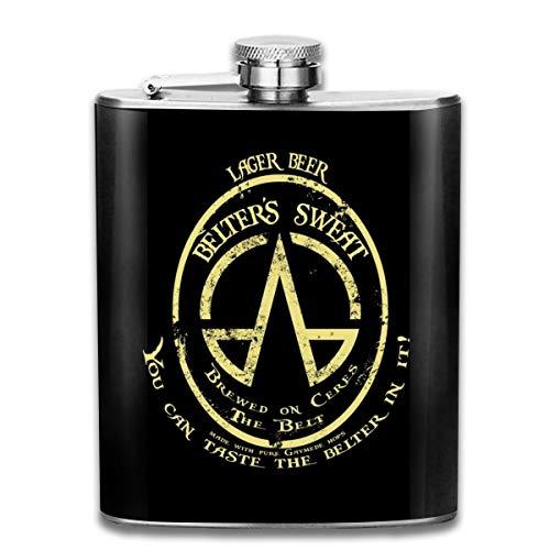 Flachmann/Taschenflasche, Motiv: Lager Beer Belters Sweat The Ex-Panse, Edelstahl, 200 ml, tragbar