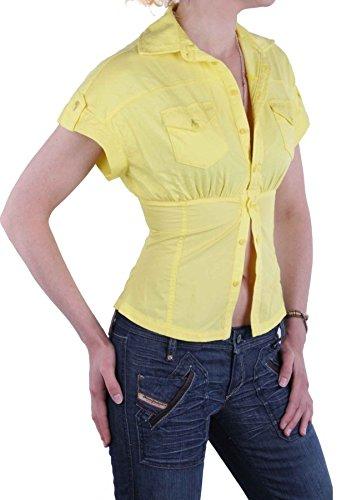 Diesel T-shirt Chemisier manches courtes zepte Jaune Taille XXS # 1 Jaune - Jaune