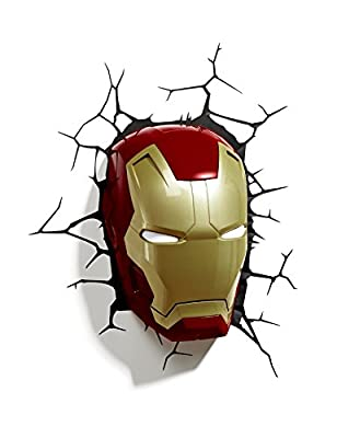 3D Light FX Marvel Iron Man Mask 3D Deco LED Wall Light (Discontinued by manufacturer) - cheap UK light store.
