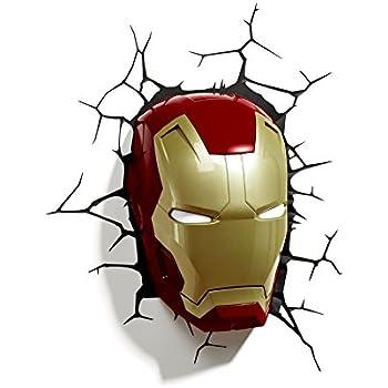 3d Light FX Marvel Iron Man Masque 3d Deco Applique murale à LED (discontinued par le fabricant)