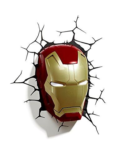 3D Light FX Licht Marvel Iron Man Maske 3D Deco LED Wandleuchte (Auslaufmodell)
