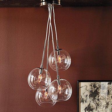 60W Ciondolo artistico moderno con 4 luci in Design Glass Bubble ( Tensione : 110-120V (120 Volt 4 Catena Luce)