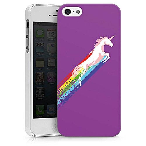 Apple iPhone X Silikon Hülle Case Schutzhülle Einhorn Unicorn Regenbogen Geschenk Hard Case weiß