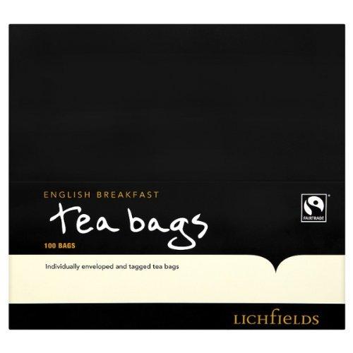 Lichfield Fairtrade English Breakfast Tea Bags - 2 x 100