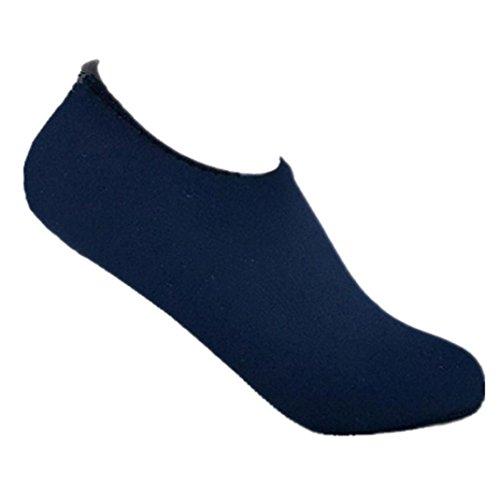 Puma Flops Flip Mann (QinMM Männer Frauen Unisex Yoga Surf Strand Schnorcheln Socken Schwimmen Tauchen Socken Schwimmen Schuhe Strand Schuhe Sandalen Stilvolle Orange Schwarz Blau Pink Navy Green 32-45 (32-33 EU, Navy))
