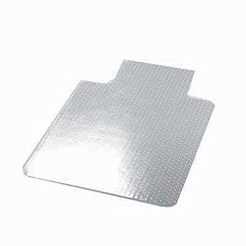 Q-Connect Clear Durable PVC Home/Office Chairmat with Studded Underside, 1143 x 1346mm