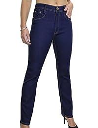 ICE (1530-1) Jeans Droit en Denim Extensible Bleu Indigo