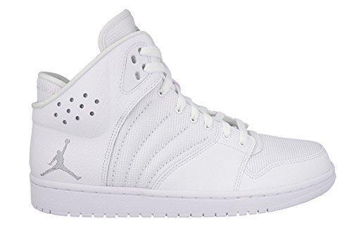 Nike Herren Jordan 1 Flight 4 Turnschuhe, Weiß/Versilbert (Weiß/Metallic Silver), 43 EU (Weiß Schuhe Jordan)