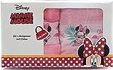 Asciugamani Disney Set Bagno in Puro Cotone 48 x 80 Centimetri Disponibili con Diversi Personaggi (Minnie - Topolina)