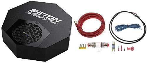 Eton RES10A - Aktiver Reserverad Subwoofer mit Strom Anschluss Kabel Kit 6qmm² - Subwoofer für Reserveradmulde (Subwoofer Kit Audio)
