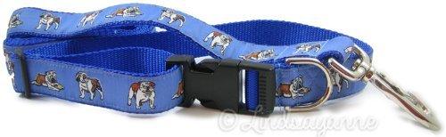 Dog Ink Englisch Bulldog Hund Halsband und Leine Set, Standard, Blau -