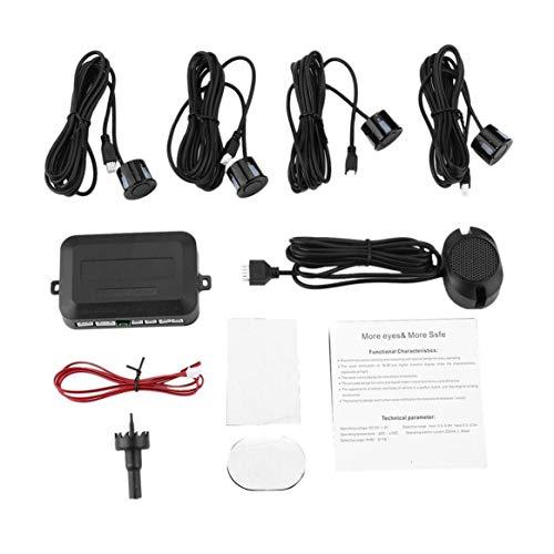 Delicacydex-4-Sensori-di-parcheggio-Auto-Parcheggio-Backup-Automatico-Retromarcia-Assistenza-Posteriore-Radar-Buzzer-Posteriore-Allarme-Sistema-di-monitoraggio-del-Suono-Parktronic