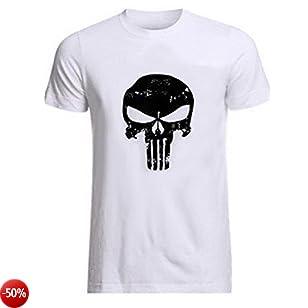 ROBO Palestra Magliette T-Shirt Manica Corta da Uomo Sottile Culturismo in Cotone e Spandex per Palestra e Tempo Libero, M-2XL