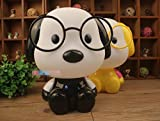 OUSENR Tischleuchte Cute Gläser Hund Cartoon Schreibtisch Lampe Kinderzimmer Kinder Bett Lampe Schlafen Nachtlicht Dekoration Schutzbrille Tischlampe, 01.