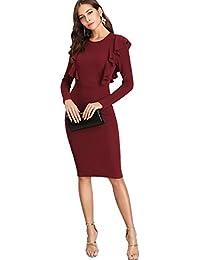 a2c8a9ca9802 Amazon.it  vestito bordeaux - Donna  Abbigliamento