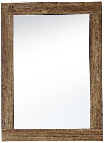 Stella Trading Brüssel Spiegel, Wandspiegel, Garderobenspiegel, Holz, Braun, (B/H/T) 65 x 90 x 2 cm