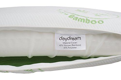 daydream – Memory Kopfkissen – aus Memory Foam – bequem und hochwertig- Bezug aus BAMBUS-Stoff mit ALOE VERA - 4