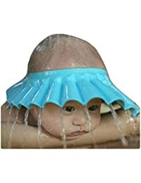 Yellow ni/ños Champ/ú impermeable seguro proteja el escudo del pelo del protector del visera ajustable para el ni/ño ni/ños beb/é leegoal Ajustable Gorro de Ducha para Beb/é