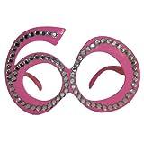 Folat Creative Party-Brille zum 60. Geburtstag,Pink