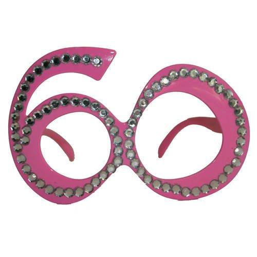 Folat Creative Party-Brille zum 60. Geburtstag,Pink Preisvergleich