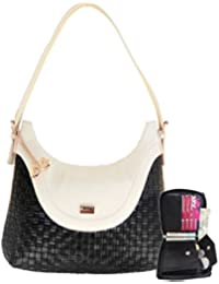 Anglopanglo Latest Trend Black Color Handbag & Wallet Combo For Girls And Women