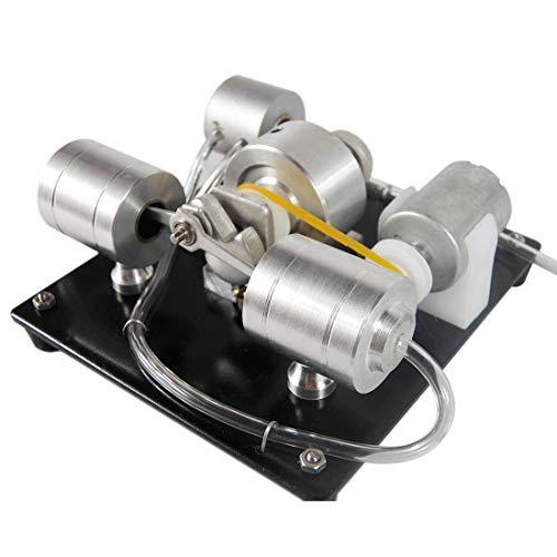 TETAKE Dampfmaschine Bausatz Modell DIY Selber Bauen Motor Modell mit Generator Pädagogisches Spielzeug Geschenk