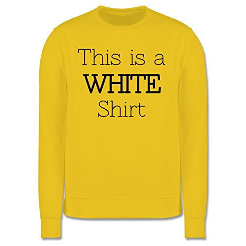 Statement Shirts - This is a white Shirt - Herren Premium Pullover Gelb