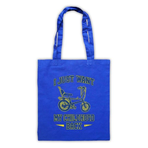 Bici Chopper I Just Want My infanzia, Borsa posteriore Blu