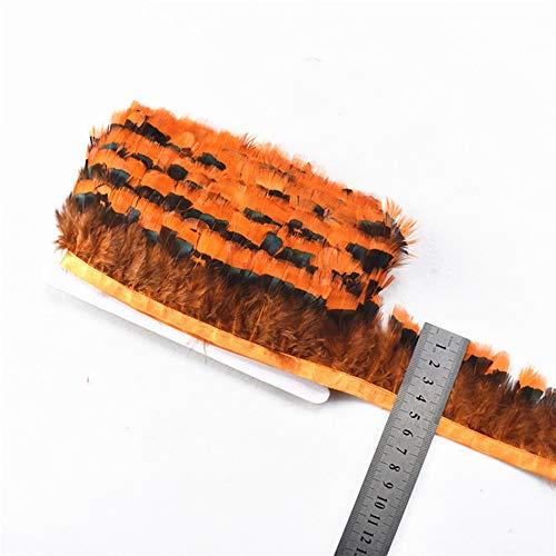 Lieferanten Kostüm Schmuck Mode - SHFives 10 Meter natürliche hühnchen fasanenfedern schneiden weiße Federn für Handwerk für schmuck Machen bekleidungszubehör Plumas Plumes, orange