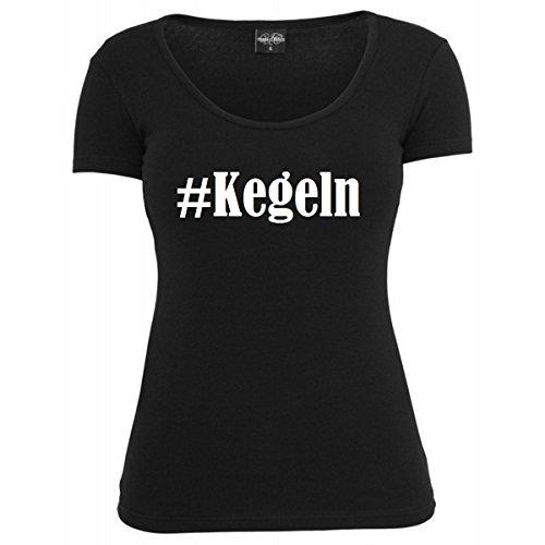T-Shirt #Kegeln Hashtag Raute für Damen Herren und Kinder ... in der Farbe Schwarz Schwarz
