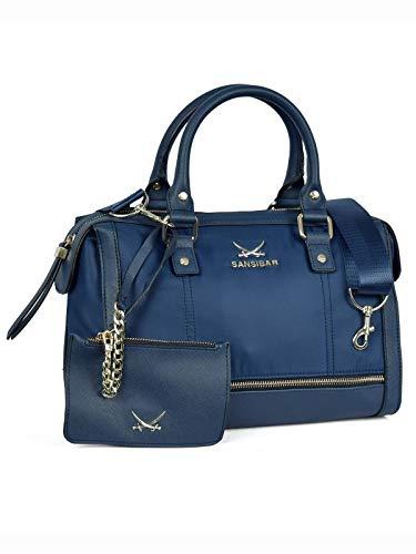 SANSIBAR-Damen Bowling-Bag Henkeltasche 30x20x14-011 Ocean Blue