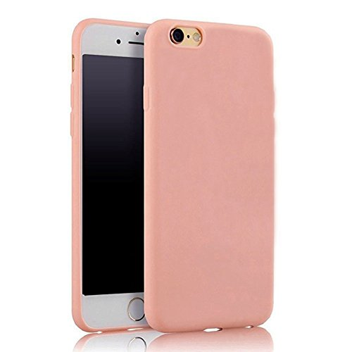 Hosaire 1Piece Coque soft Tpu solid ultra-thin pour iPhone 6/ 6s multicolore option-Rose clair