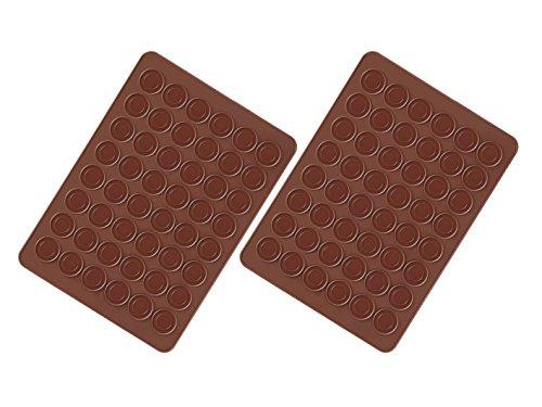 Fanaticism 2 Stück Macarons Backmatte aus Silikon 48 Mulden antihaftbeschichtet 38*28cm