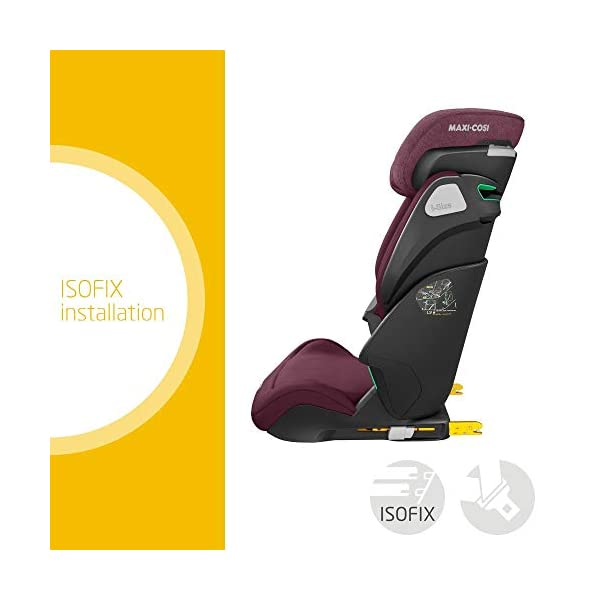 Maxi-Cosi Kore i-Size Child Car Seat, 3.5 - 12 years, 100 - 150 cm, Authentic Red Maxi-Cosi Child car seat, suitable to use from 3.5 to 12 years (approx from 100 cm to 150 cm) ISOFIX installation is possible with this group 2/3 car seat for optimal stability Quick and easy to buckle up: This ISOFIX car seat is designed to enable children to get in and out and buckle up on their own in a few seconds 2