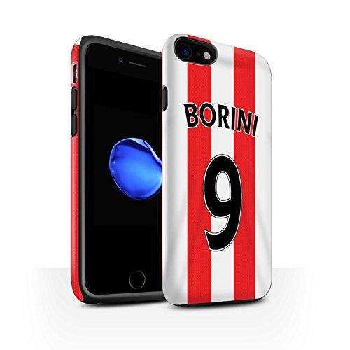 Offiziell Sunderland AFC Hülle / Matte Harten Stoßfest Case für Apple iPhone 7 / Van Aanholt Muster / SAFC Trikot Home 15/16 Kollektion Borini
